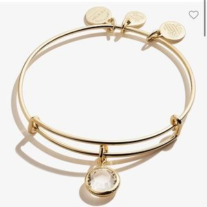 Alex and Ani April birthstone gold bracelet